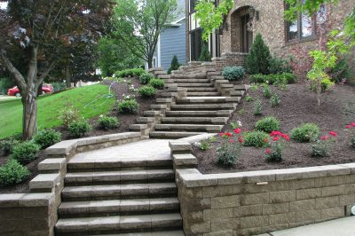 retaining walls by Wichman Landcape in Pittsburgh