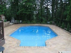 Pool Deck Paving Stone Installation