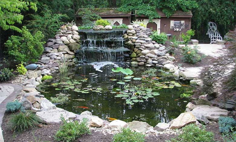 Pittsburgh koi pond waterfall outdoor fountains for Koi pond pics