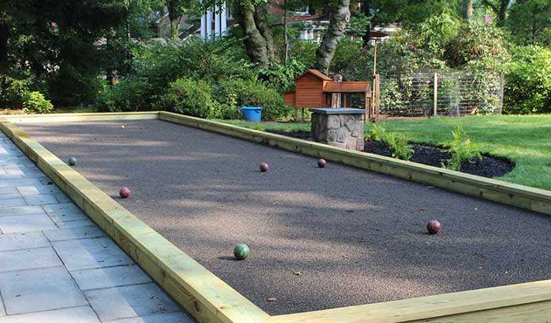 Backyard Bocce Ball Court Pittsburgh