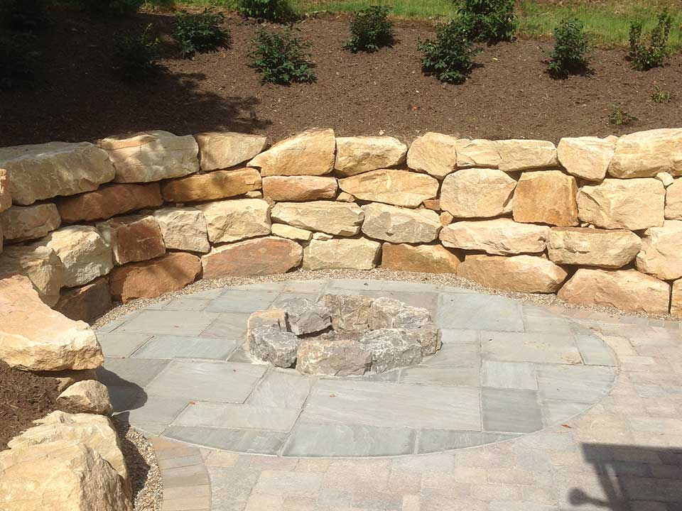 Colorful Stone Retaining Wall Ideas Image Collection - Wall Art ...