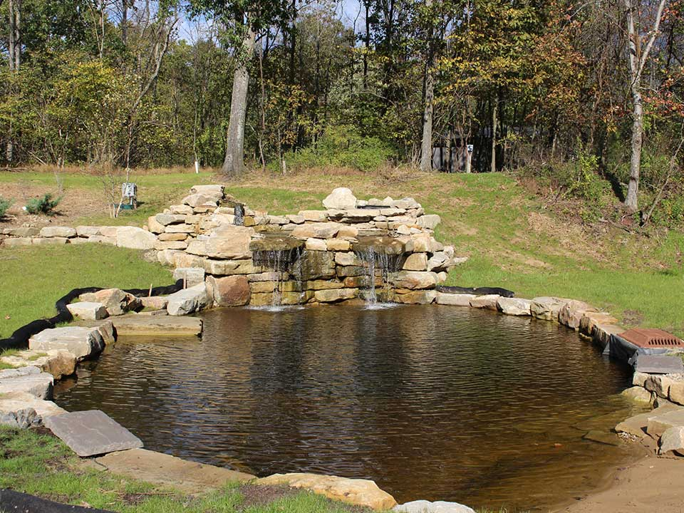 Pittsburgh Koi Pond Waterfall - Outdoor Fountains