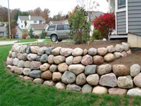 Stone Walls Pittsburgh Natural Stone Retaining Wall